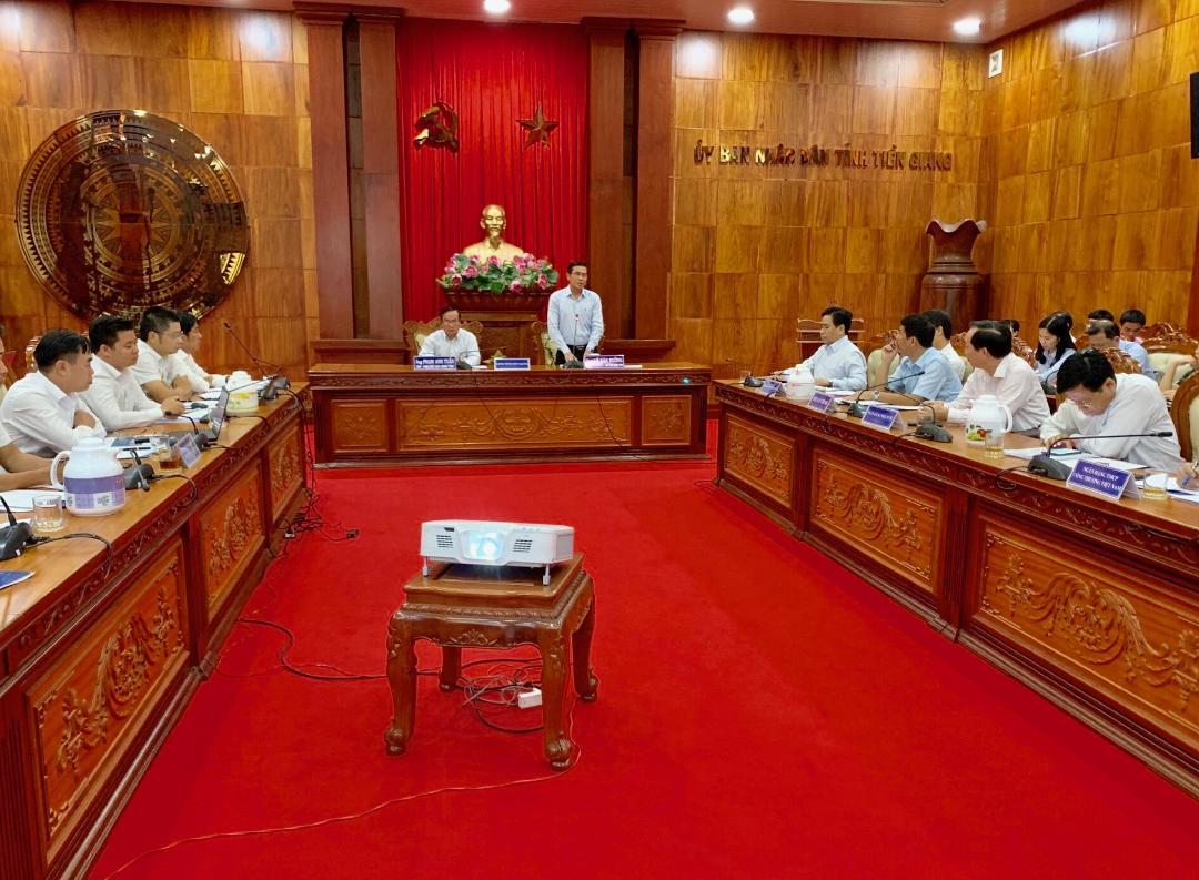 Ông Lê Văn Hưởng, Chủ tịch UBND tỉnh Tiền Giang mong muốn các bên sớm tìm được tiếng nói chung thúc đẩy dự án về dích sớm